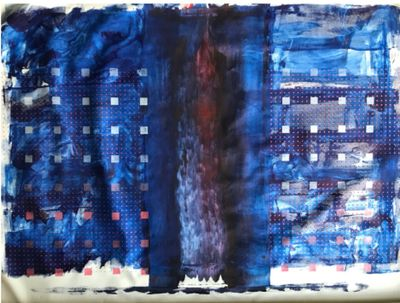 """Painting: """"Colossus,"""" courtesy of Scott Reamer"""