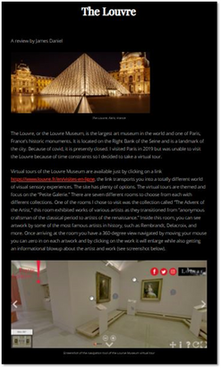 James Daniel's virtual review of The Louvre