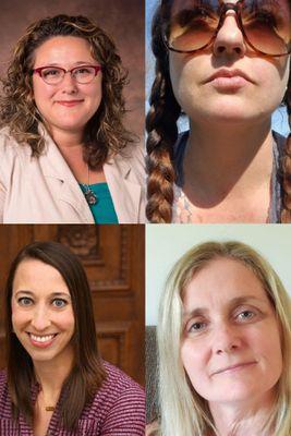 Top row: Rebecca Miner & Kristina Gladfelter; Bottom row: Erinn Metcalf & Brenda Woods