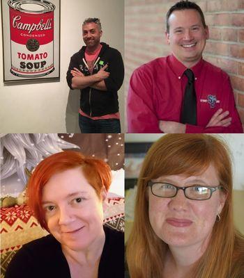 Top row: Dylan Campbell & Howard Gunston; Bottom Row: Kirstin Krick & Maggie Frozena