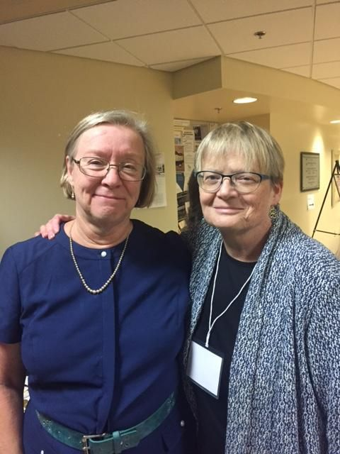 Jane Donawerth and Nan Johnson at Women, Rhetoric, and Writing conference at University of Maryland