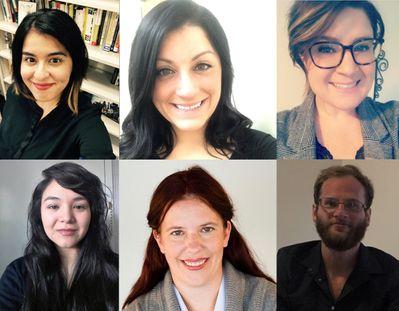 Top row: Veronica Guevara-Lovgren, Brianna DeCicco, & Samantha Glassford; Bottom row: Krystle Wilmot, Mary-Beth Brophy, & Connor Sampson