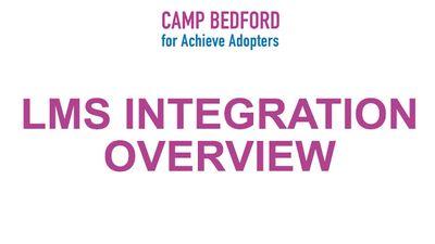 LMS Integration Overview