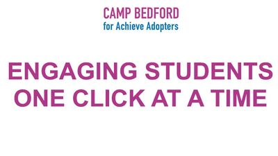 Engaging Students One Click at a Time