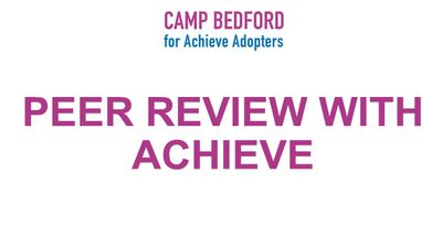 Peer Review with Achieve