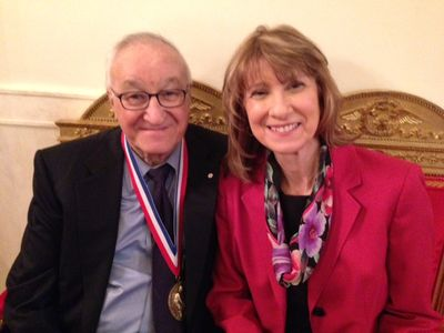 Al Bandura and Chris Cardone after the Medal of Science award at the White House