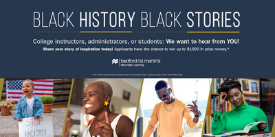 Black History, Black Stories contest. Submissions from students and faculty can win up to $1,000.