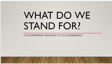 """Please click on the slide above to see an example of a completed """"What Do We Stand For?"""" slideshow."""